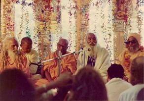 מפגש בין סוואמי שִיאָם למורים רוחניים אחרים